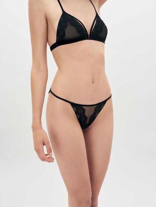 Bikini culotte black.