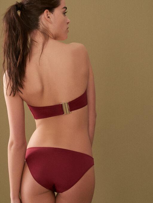 Bikini culotte burgundy.