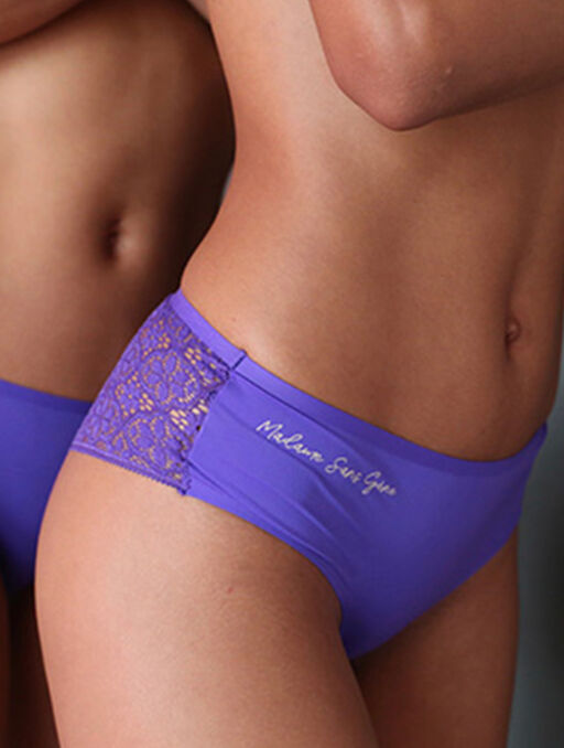 "Culotte ""madame sans gène"" purple."