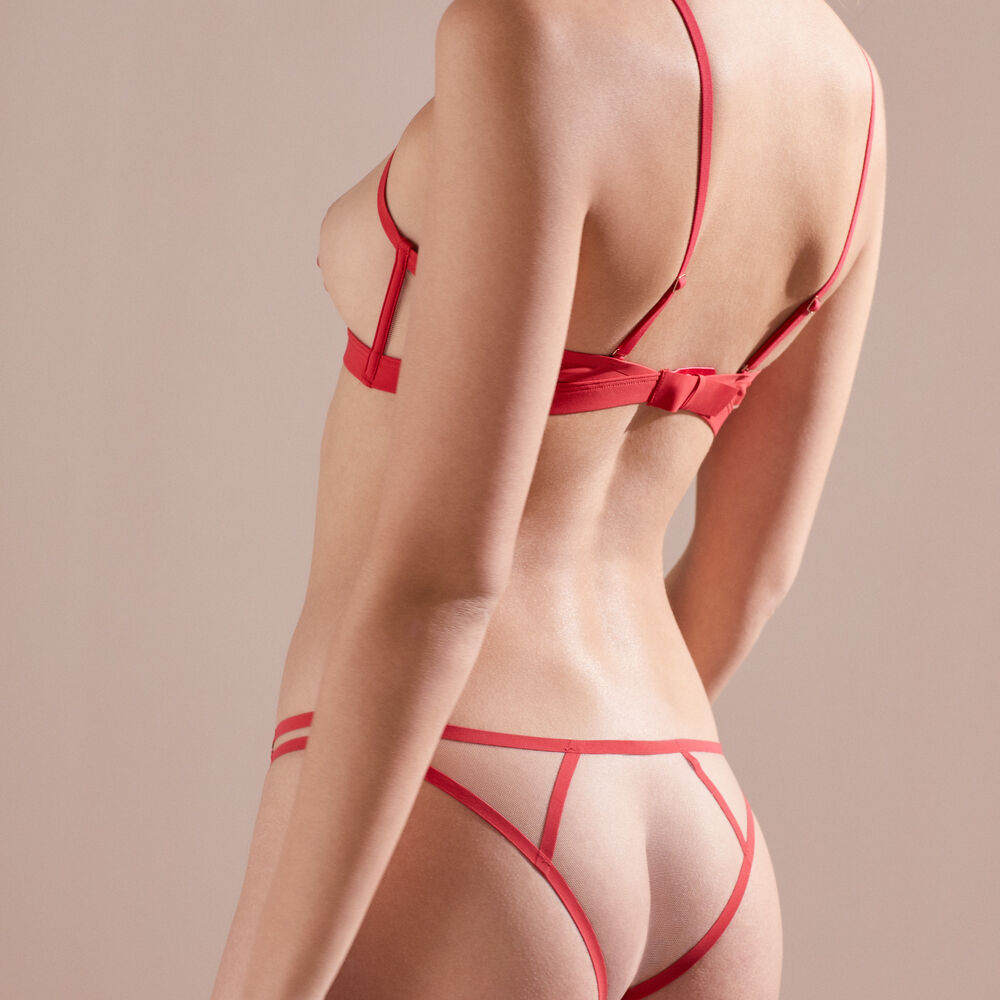 Culotte red.