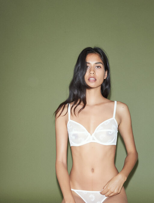 Bikini culotte white.