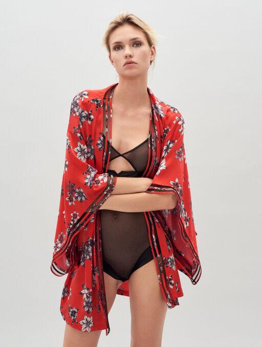 Kimono light print.