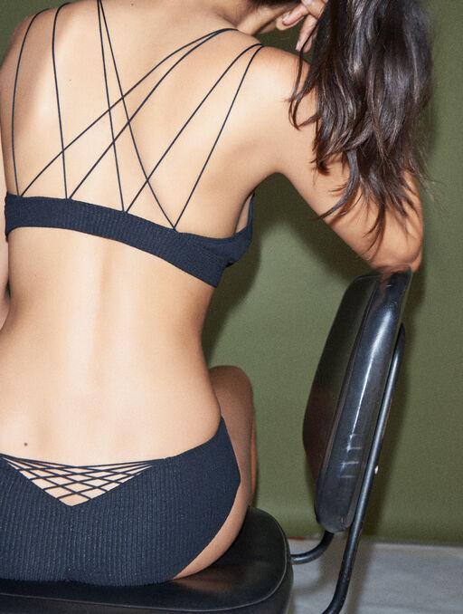 Bikini culotte livystone black.