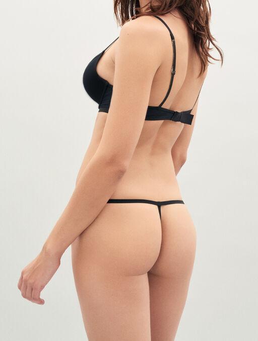 Bikini string black.
