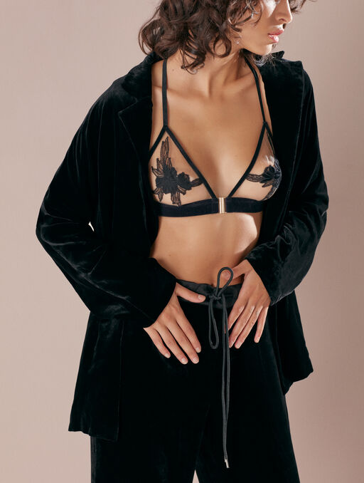 Veste en velours black.