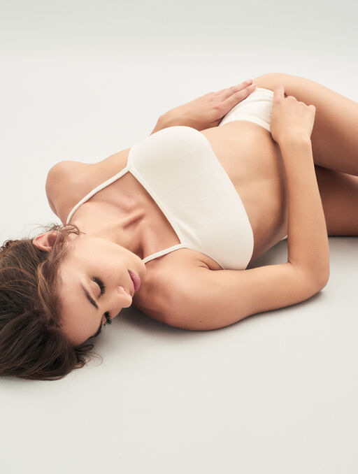 Bralette sans armatures cream.
