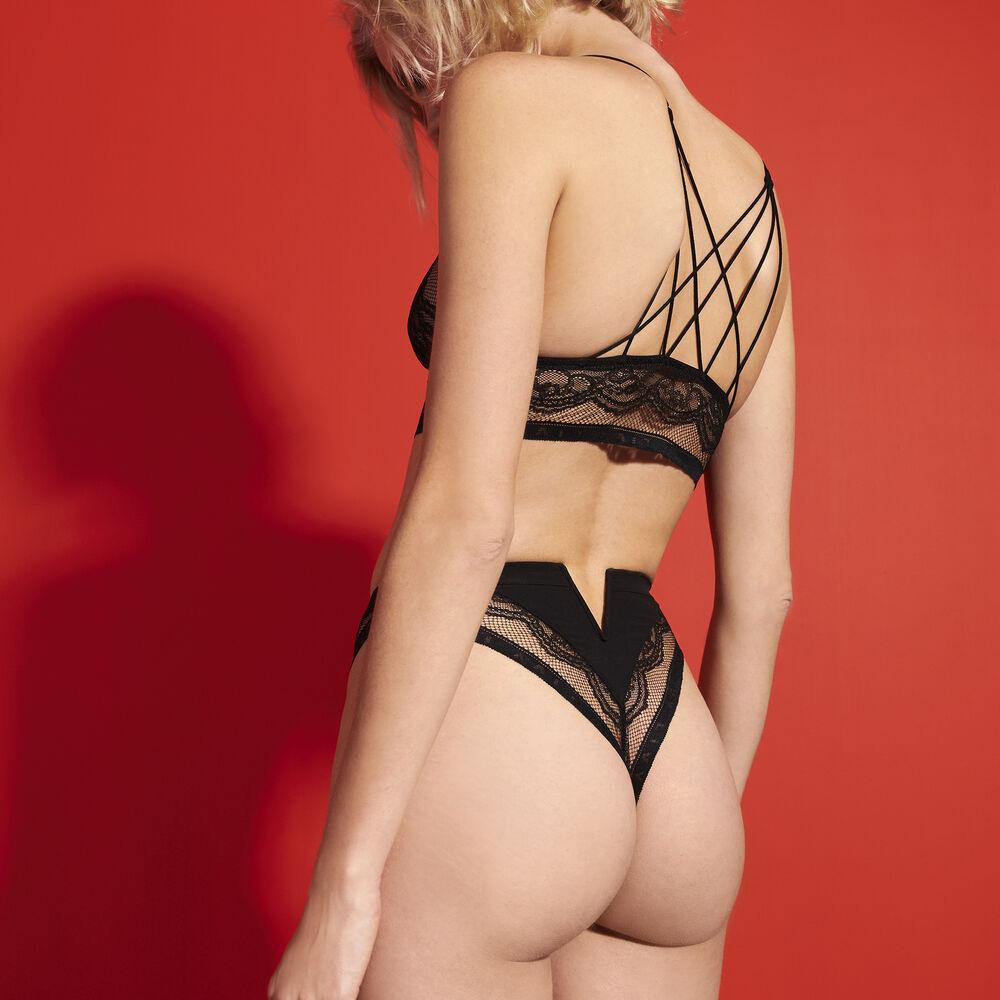 Culotte taille haute black.